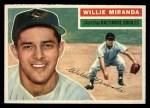 1956 Topps #103  Willie Miranda  Front Thumbnail