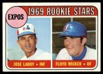 1969 Topps #524   -  Jose Laboy / Floyd Wicker Expos Rookies   Front Thumbnail