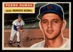 1956 Topps #49  Pedro Ramos  Front Thumbnail