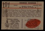 1953 Bowman #37  George Connor  Back Thumbnail