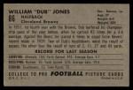 1952 Bowman Large #86  Dub Jones  Back Thumbnail