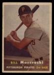 1957 Topps #24  Bill Mazeroski  Front Thumbnail