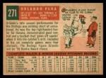 1959 Topps #271  Orlando Pena  Back Thumbnail