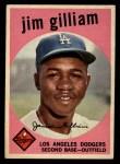 1959 Topps #306  Jim Gilliam  Front Thumbnail