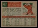 1959 Topps #487  Hal Brown  Back Thumbnail