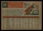 1959 Topps #201  Tom Acker  Back Thumbnail