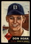 1953 Topps #176  Don Hoak  Front Thumbnail
