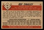 1953 Bowman Black and White #56  Roy Smalley  Back Thumbnail