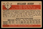 1953 Bowman Black and White #2  Willard Nixon  Back Thumbnail