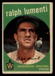 1959 Topps #316 ^OPT^ Ralph Lumenti  Front Thumbnail