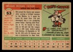 1955 Topps #53  Bill Taylor  Back Thumbnail