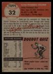 1953 Topps #32  Clyde Vollmer  Back Thumbnail