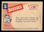1959 Fleer Three Stooges #39   If You Don't Stop  Back Thumbnail