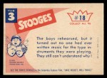 1959 Fleer Three Stooges #18   One More Rehearsal and I Think  Back Thumbnail