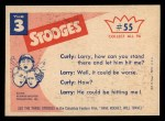 1959 Fleer Three Stooges #55   When You Hear the Tone  Back Thumbnail