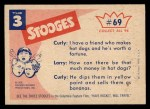 1959 Fleer Three Stooges #69   What are You Planting  Back Thumbnail