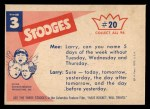 1959 Fleer Three Stooges #20   How Do You Like this for Fan  Back Thumbnail