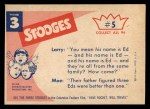 1959 Fleer Three Stooges #5   They Went Thatta  Back Thumbnail