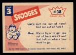 1959 Fleer Three Stooges #38   Contact  Back Thumbnail
