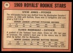 1969 Topps #49 COR  -  Steve Jones / Ellie Rodriguez Royals Rookies Back Thumbnail