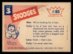 1959 Fleer Three Stooges #80   You Say It Was Right Here That  Back Thumbnail