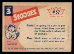 1959 Fleer Three Stooges #57   That Oughta Hold Him  Back Thumbnail