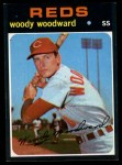 1971 Topps #496  Woody Woodward  Front Thumbnail