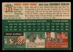 1954 Topps #123  Bobby Adams  Back Thumbnail