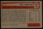 1954 Bowman #4  Bob Hooper  Back Thumbnail