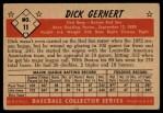 1953 Bowman Black and White #11  Dick Gernert  Back Thumbnail