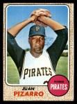 1968 Topps #19  Juan Pizarro  Front Thumbnail