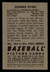 1952 Bowman #164  Connie Ryan  Back Thumbnail