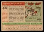 1955 Topps #130  Mayo Smith  Back Thumbnail