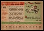 1955 Topps #44  Corky Valentine  Back Thumbnail