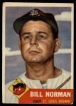1953 Topps #245  Bill Norman  Front Thumbnail