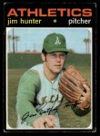 1971 Topps #45  Catfish Hunter  Front Thumbnail