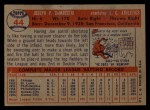 1957 Topps #44  Joe DeMaestri  Back Thumbnail