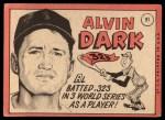 1969 Topps #91  Al Dark  Back Thumbnail