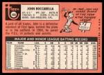 1969 Topps #466  John Boccabella  Back Thumbnail
