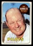 1969 Topps #254  Joe Schultz  Front Thumbnail