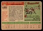 1955 Topps #122  Carl Sawatski  Back Thumbnail