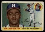1955 Topps #15  Jim Pendleton  Front Thumbnail