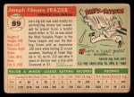 1955 Topps #89  Joe Frazier  Back Thumbnail