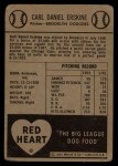 1954 Red Heart  Carl Erskine    Back Thumbnail