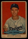 1954 Red Heart  Carl Erskine    Front Thumbnail
