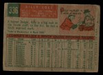 1959 Topps #336 TR Billy Loes  Back Thumbnail