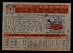 1957 Topps #290  Andy Carey  Back Thumbnail