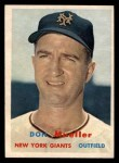 1957 Topps #148  Don Mueller  Front Thumbnail