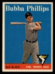 1958 Topps #212  Bubba Phillips  Front Thumbnail