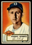 1952 Topps #136 CRM Johnny Schmitz  Front Thumbnail